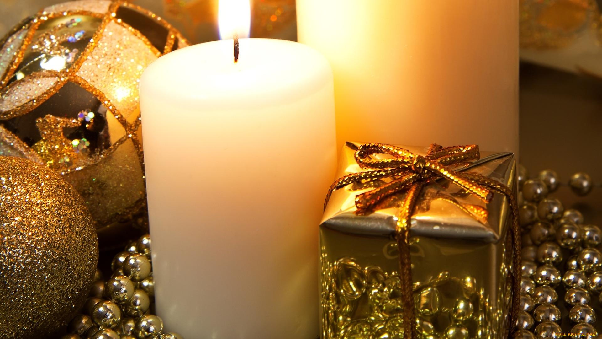 ночные здания картинки с новогодними свечами вовсе